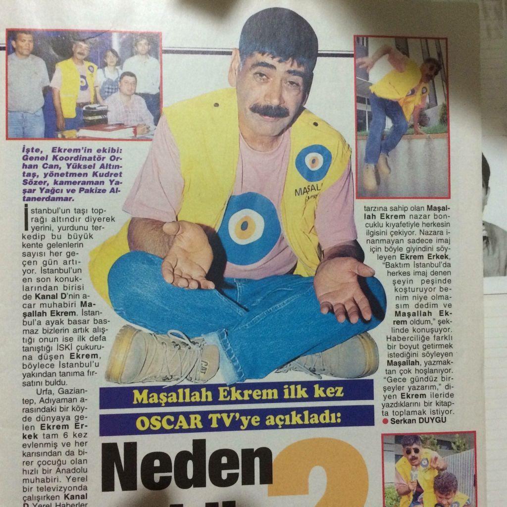 Bu adamı hatırladınız mı.. Bir Maşallah Ekrem vardı.. Hani Antep'in acar muhabiri..