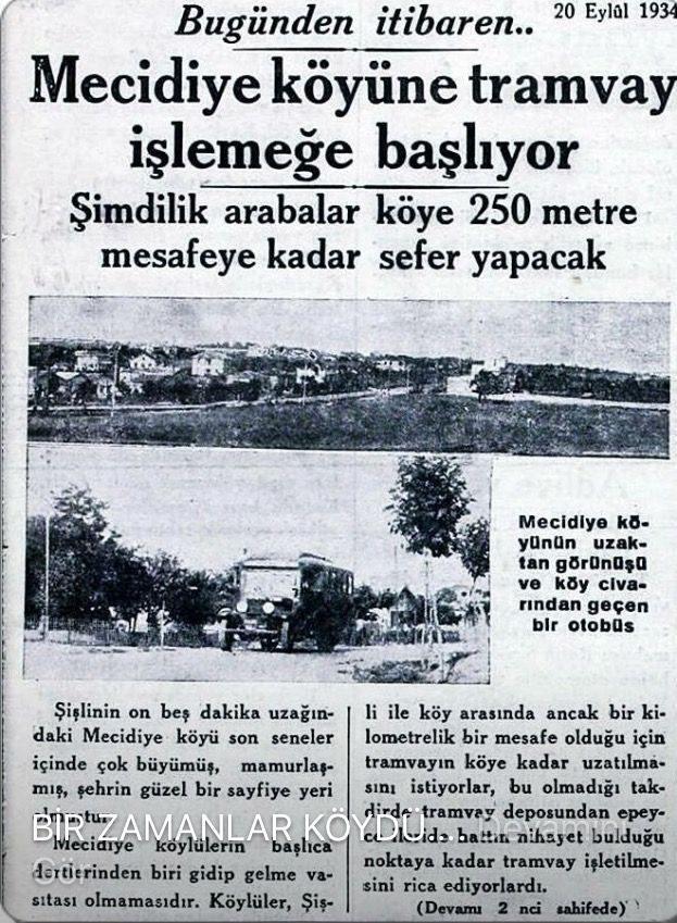Hey gidi Mecidiyeköy.. Bir zamanlar harbiden böyle bir köydü..